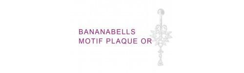 BANANABELLS motif argent 925% plaque or